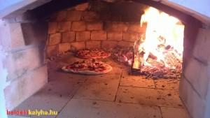 Pizza sütés